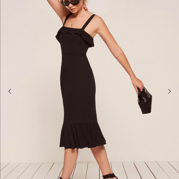 d0d62d5b9f NWT Reformation Black Frida Dress